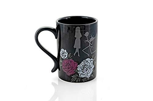 The Nightmare Before Christmas Black Rose Wedding 15 Oz Ceramic Mug - Romantic Jack Skellington Proposing To Sally -Misfit Love Novelty Coffee Cup With Handle From Tim Burtons Creepy Animated Film