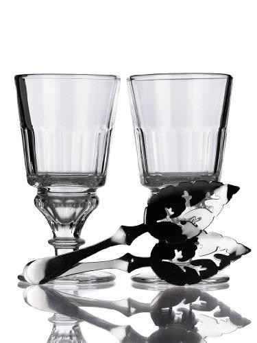 Set 2 Pontarlier II Glasses 2 Feuille Spoons