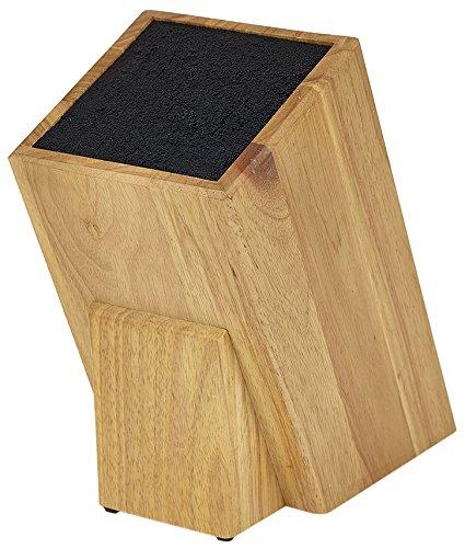 Kapoosh Dice Knife Block Light Oak Woodgrain
