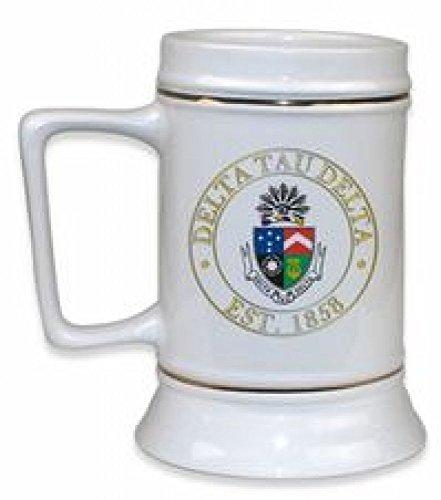 Delta Tau Delta DTD Ceramic Stein White