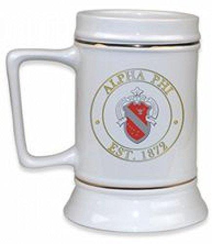 Greekgear Alpha Phi Ceramic Stein White