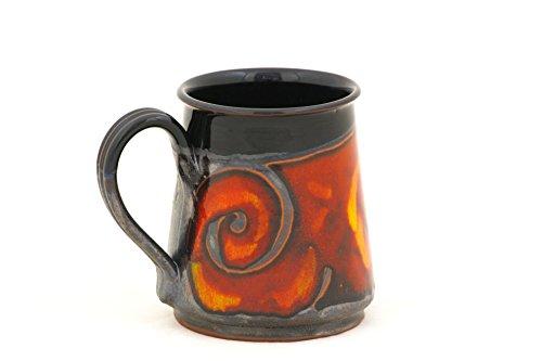 Halloween Stein Pottery Beer Mug 24oz Ceramic Stein Pottery Mug for Beer and Coffee Stoneware Large Mug Groom Gift