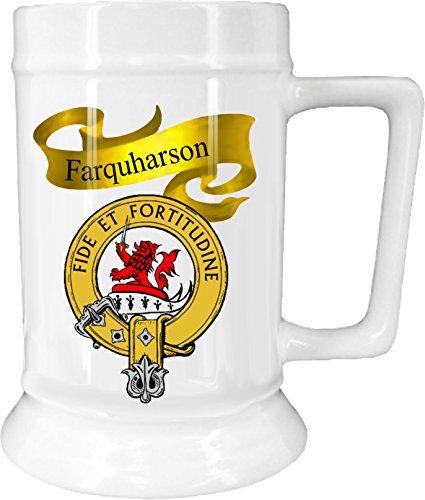 Scottish Clan Farquharson on New Ceramic Beer Stein