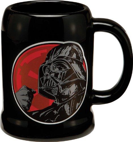 Vandor 99279 Star Wars Darth Vader 20 oz Ceramic Stein Black Red and White