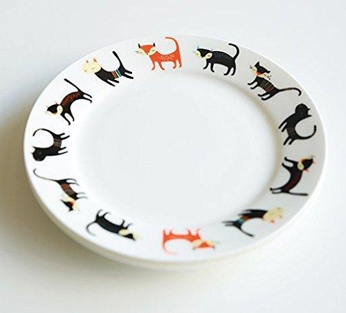 Cartoon Cat Decorative bone china dinner plates dishes ceramic tableware kitchen fruit dessert salad pasta plates 8 inch Cats