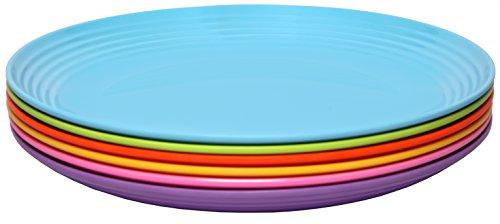 Melange 6-Piece  Melamine Salad Plate Set Solids Collection   Shatter-Proof and Chip-Resistant Melamine Salad Plates  Color Multicolor