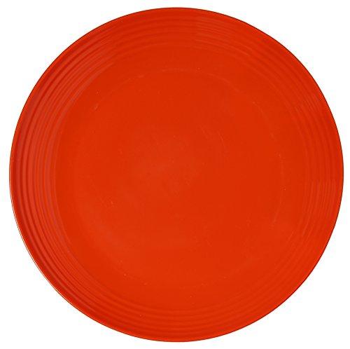 Melange 6-Piece  Melamine Salad Plate Set Solids Collection   Shatter-Proof and Chip-Resistant Melamine Salad Plates  Color Orange