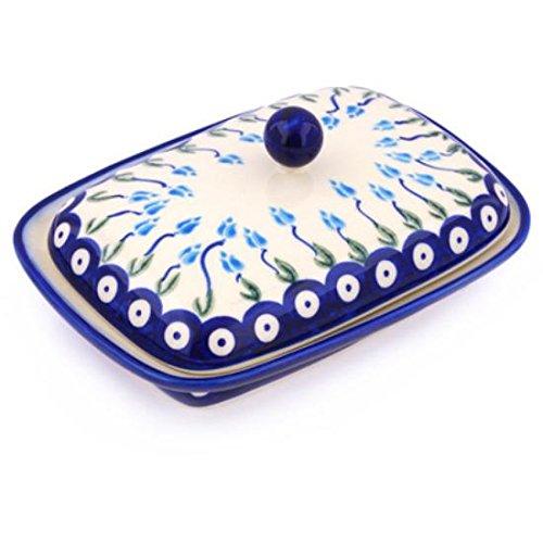 Ceramika Bona H7199G Polish Pottery Ceramic Butter Dish Hand Painted 7-Inch