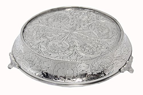 Glittering Silver Wedding Cake Stand Tapered 14 Round