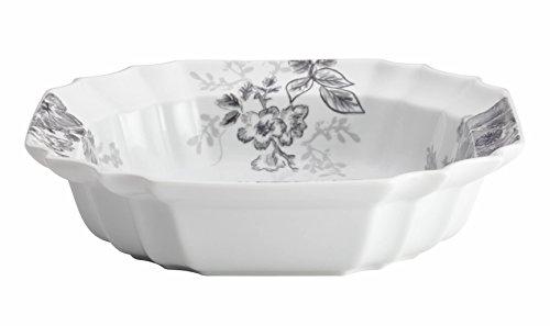 BonJour Dinnerware Shaded Garden 10-12-Inch Porcelain Serving Bowl Slate