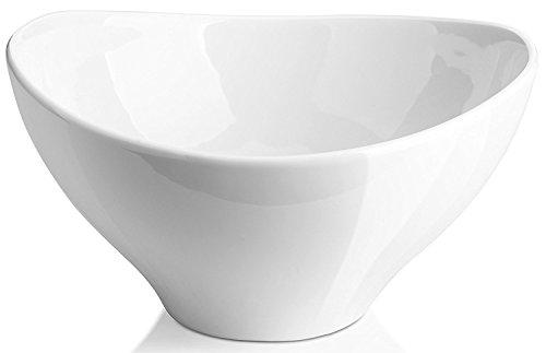 DOWAN 14-Quart Porcelain ServingMixing Bowls Set of 4 White