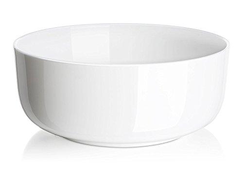 DOWAN 4-Pack Porcelain Serving Bowls 1-12 Quart White