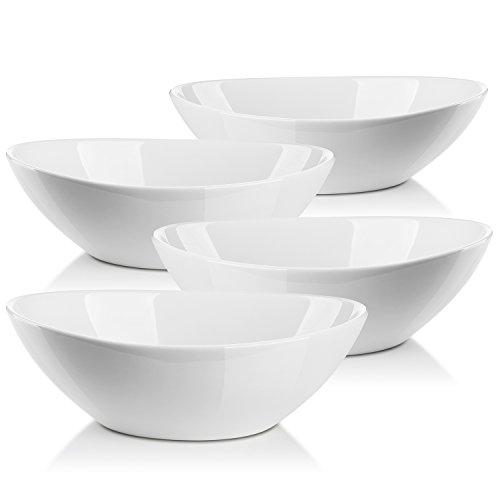 Lifver 11-quart36-oz Porcelain Serving Bowls for SaladSide dishesSoupDessert Set of 4 White