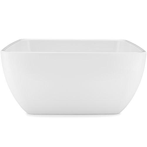 Q Squared Diamond White BPA-Free Melamine Serving Bowl 10-12 Inches White