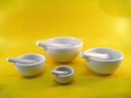 4 Piece Porcelain Mortar and Pestle Set