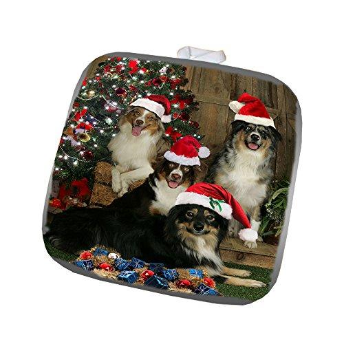 Australian Shepherd Dog Christmas Pot Holder
