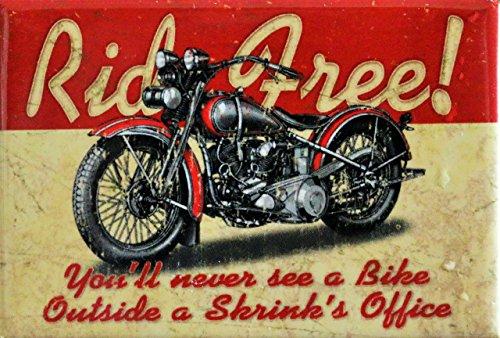 2x3 Ride Free Motorcycle Distressed Retro Vintage Refrigerator Magnet