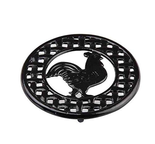 Home Basics Cast Iron Rooster Trivet Black