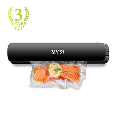 Razorri E1800-C Vacuum Sealer Machine Automatic Vacuum Sealing System for Food Sous Vide with Free 5 Starter Kit Vacuum Bags Super Slim Food Sealer Food Preservation