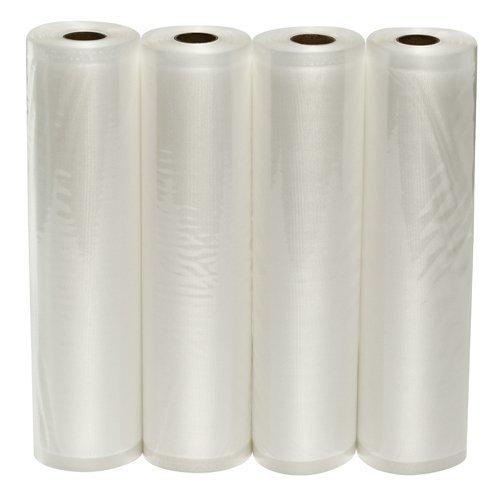 4 Jumbo 11 x 50 Commercial Vacuum Sealer Saver Bags Sous Vide Food Storage by VacSealBags