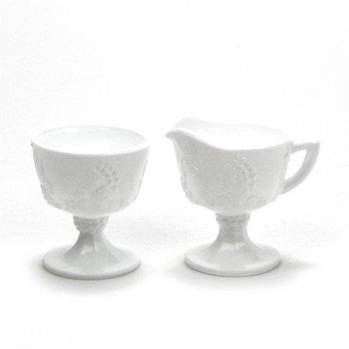 Harvest Milk Glass by Colony Glass Cream Pitcher Sugar Bowl
