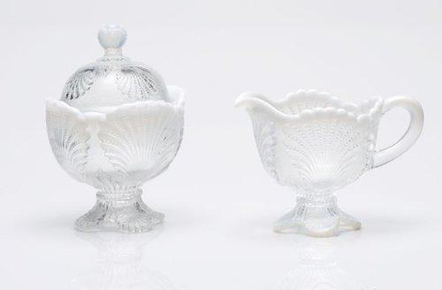 Mosser Glass Shell Opal Creamer in Crystal