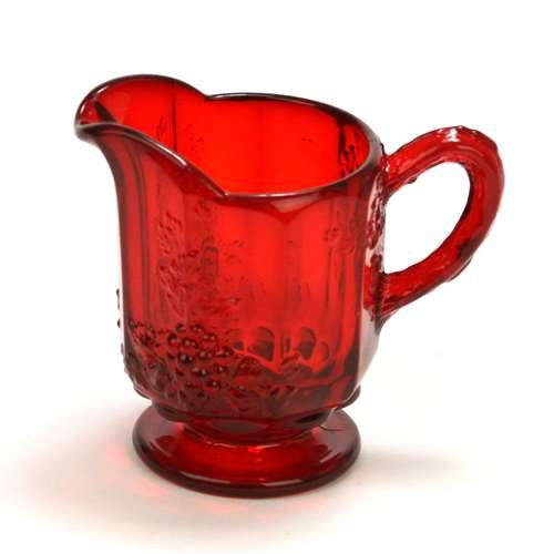 Paneled Grape Ruby by Westmoreland Glass Cream Pitcher