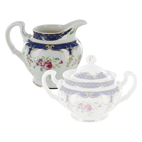English Tea Store Navy Rose Porcelain Creamer