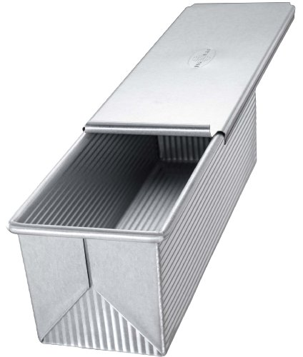 Usa Pan Bakeware Aluminized Steel 9 X 4 Inch Pullman Loaf Pan