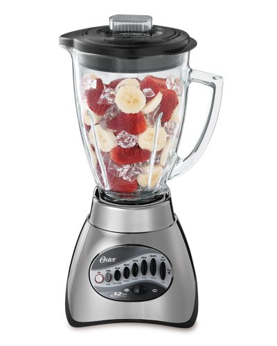 Oster 6811 6-cup Glass Jar 12-speed Blender, Brushed Nickel