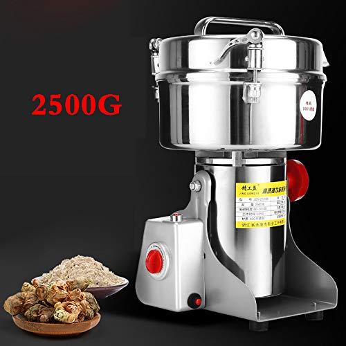 GSDZSY 2500G Electric Chinese Herbal Medicine Powder Machine Ultra-Fine Grinding Household Grain Pepper Crusher Large Capacity Medium-Sized Powder2500G