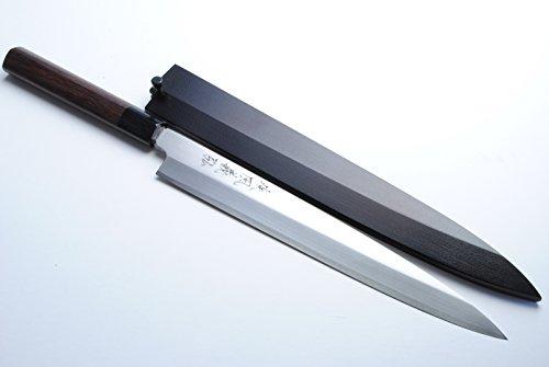"Yoshihiro Vgya240sh Stainless Hongasumi Yanagi Sushi Sashimi Japanese Chef Knife, 9.5"", Rosewood"