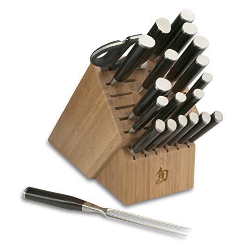 Shun DMS2100 Classic 21-Piece Mega Block Knife Set