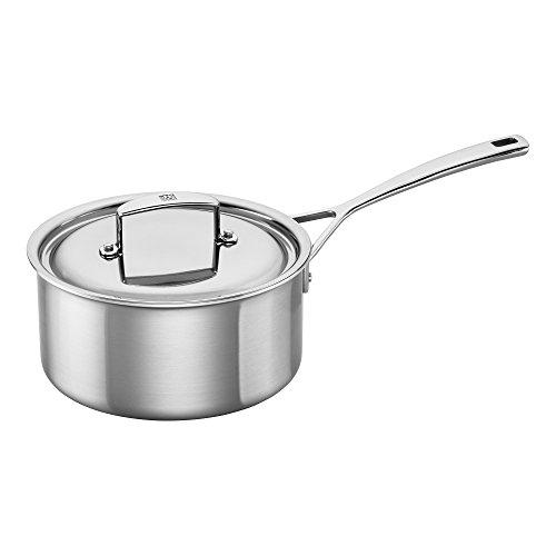 ZWILLING JA Henckels 66085-200 Aurora Saucepan 3 quart Silver Stainless Steel