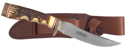 Schrade Uncle Henry Golden Spike Rat Tail Tang Fixed Blade Knife