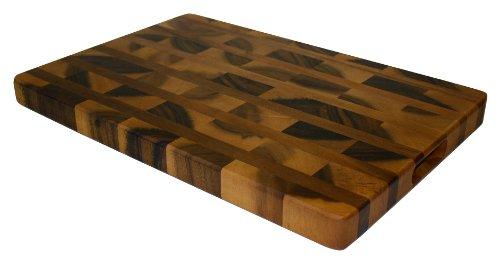 Mountain Woods Acacia Hardwood End Grain Cutting Board With Juice Groove