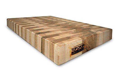 Top Chop Butcher Block Pgm-24182 Premium Reversible End Grain Character Grade Cutting Board, Maple