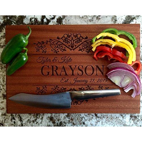 Personalized Cutting Board Beautiful Mahogany - Grayson Style