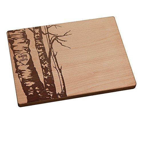 Personalized Cutting Board - Birch Trees