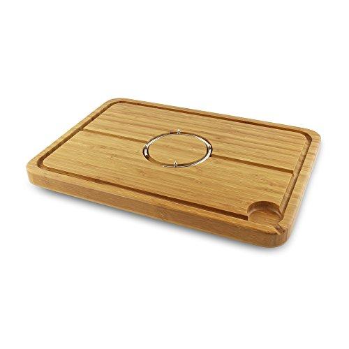 Grunwerg Medium Size Deluxe Bamboo Carving Board 40cm l x 28cm w