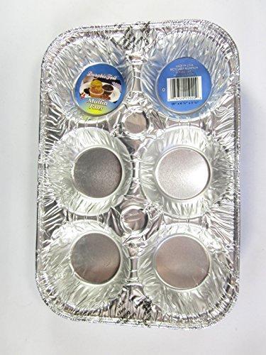 6 Disposable Aluminum Muffin Pans