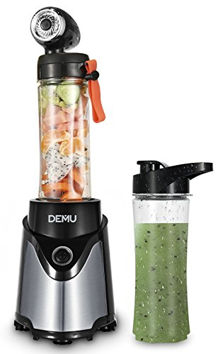 DEMU Personal Vacuum Bullet Blender Nutrient Vitamin Extraction with Travel Sport Bottles