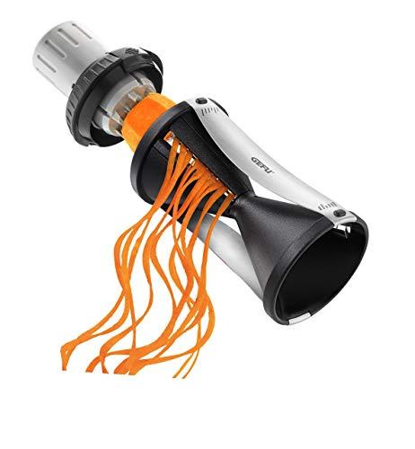 GEFU Spiralizer - Vegetable Spiral Slicer with Attachable Finger Guard - Spirelli 20