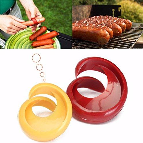 2pcs Manual Fancy Sausage Spiral Cutter BBQ Slicer for Hot Dog Ham Bananas Creative Kitchen Tool