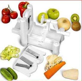 K3 Spiral Vegetable Slicer Spiralizer Veggie Fruit Chopper Mandolin Cutter Shred