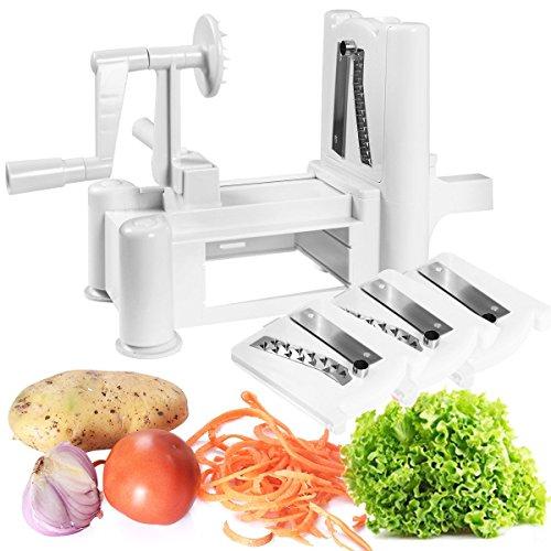 Tri-blade Plastic Spiral Vegetable Slicer Spiralizer Cutter Kitchen New - By Choice Products
