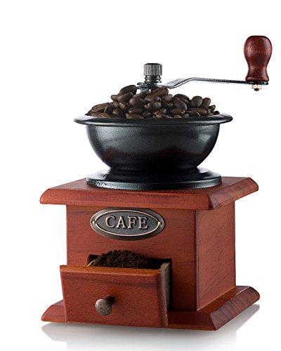 Gourmia GCG9310 Manual Coffee Grinder Artisanal Hand Crank Coffee Mill With Grind Settings Catch Drawer 115 x 115 x 175 cm