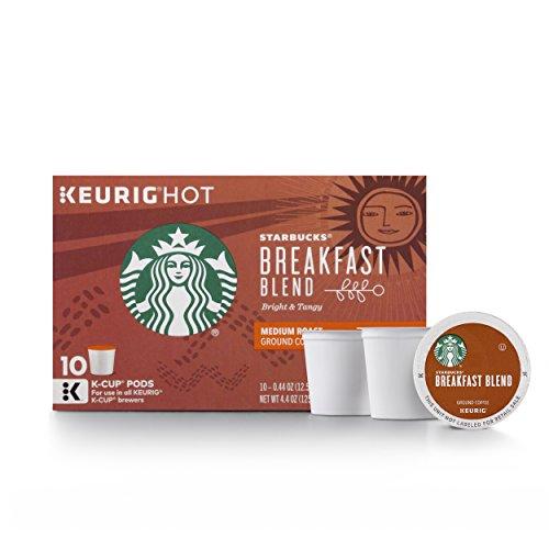 Starbucks Breakfast Blend Medium Roast Single Cup Coffee for Keurig Brewers 6 Boxes of 10 60 Total K-Cup pods