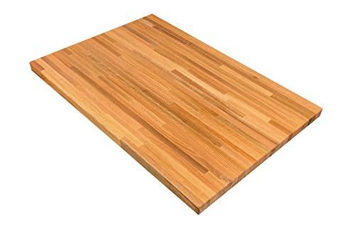 Red Oak Wooden Butcher Block Kitchen Table Top - 15 x 30 x 36