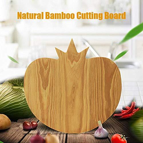 Sanmubo Apple Shape Fruit Chopping Board Bamboo Cutting Board Natural Wooden Chopping Board Premium Bamboo Cheese Board Heavy Duty Wooden Butcher Block for Meat Vegetables Fruits